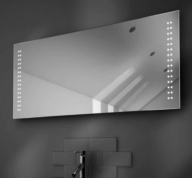 125 cm brede badkamerspiegel met verwarming