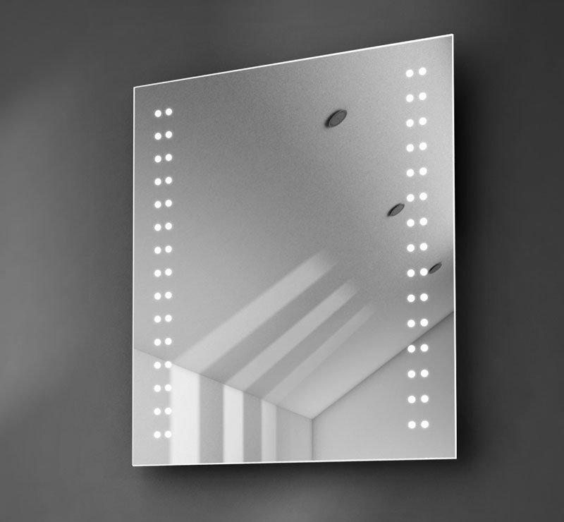 50 cm brede badkamer LED spiegel met verwarming