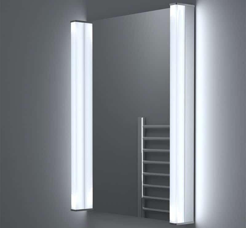 50x70 cm spiegel met verlichting en verwarming