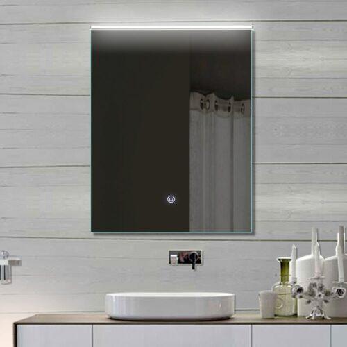 Stijlvolle smalle spiegel met instelbare LED verlichting bovenin