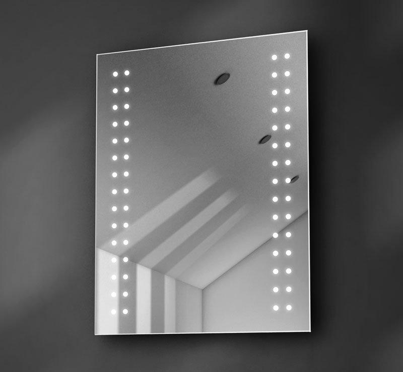 Verwarmde badkamer spiegel met verlichting 60 cm