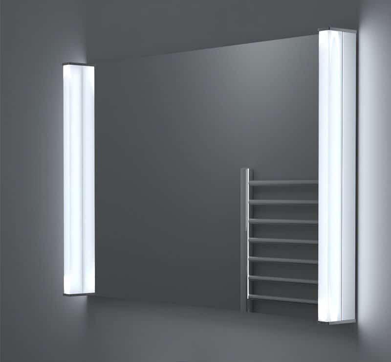 90 cm badkamer spiegel met verlichting en verwarming