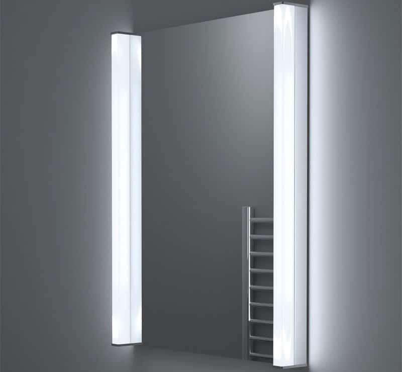 60x90 cm spiegel met verwarming en stopcontact