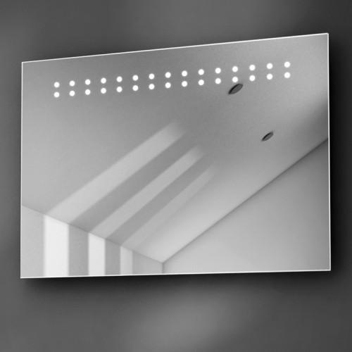 Badkamerspiegel met led licht en verwarming 70x50 cm Badkamerspiegel met led verlichting en verwarming