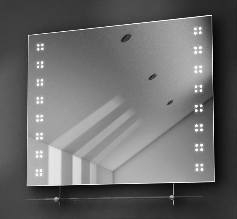 80 cm spiegel met glazen planchet