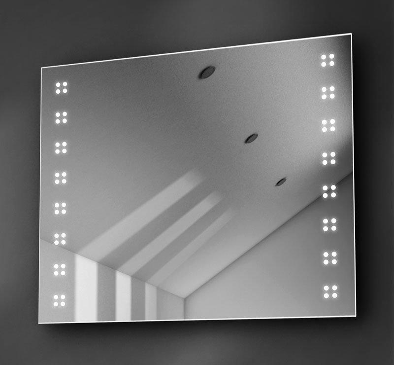 80 cm verwarmde spiegel met LED verlichting links en rechts