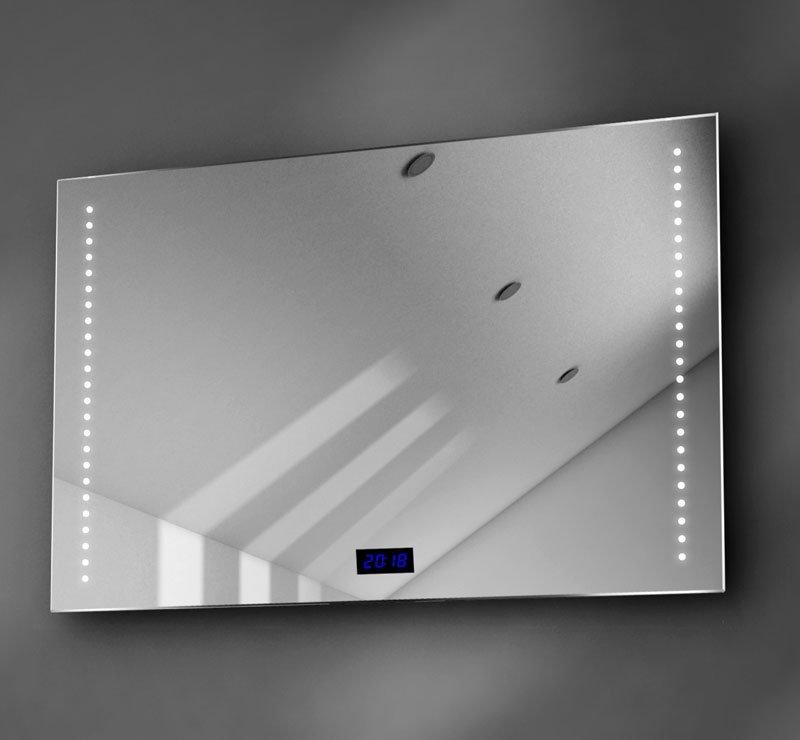 90 cm spiegel met digitale klok