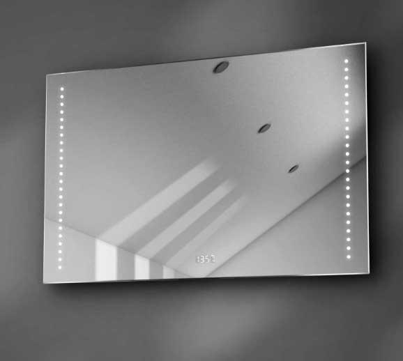 Deze LED spiegel is 90 cm breed, 60 cm hoog en slechts 3 cm diep