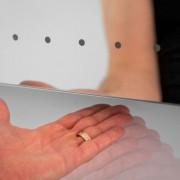 Badkamer spiegel met sensor schakelaar