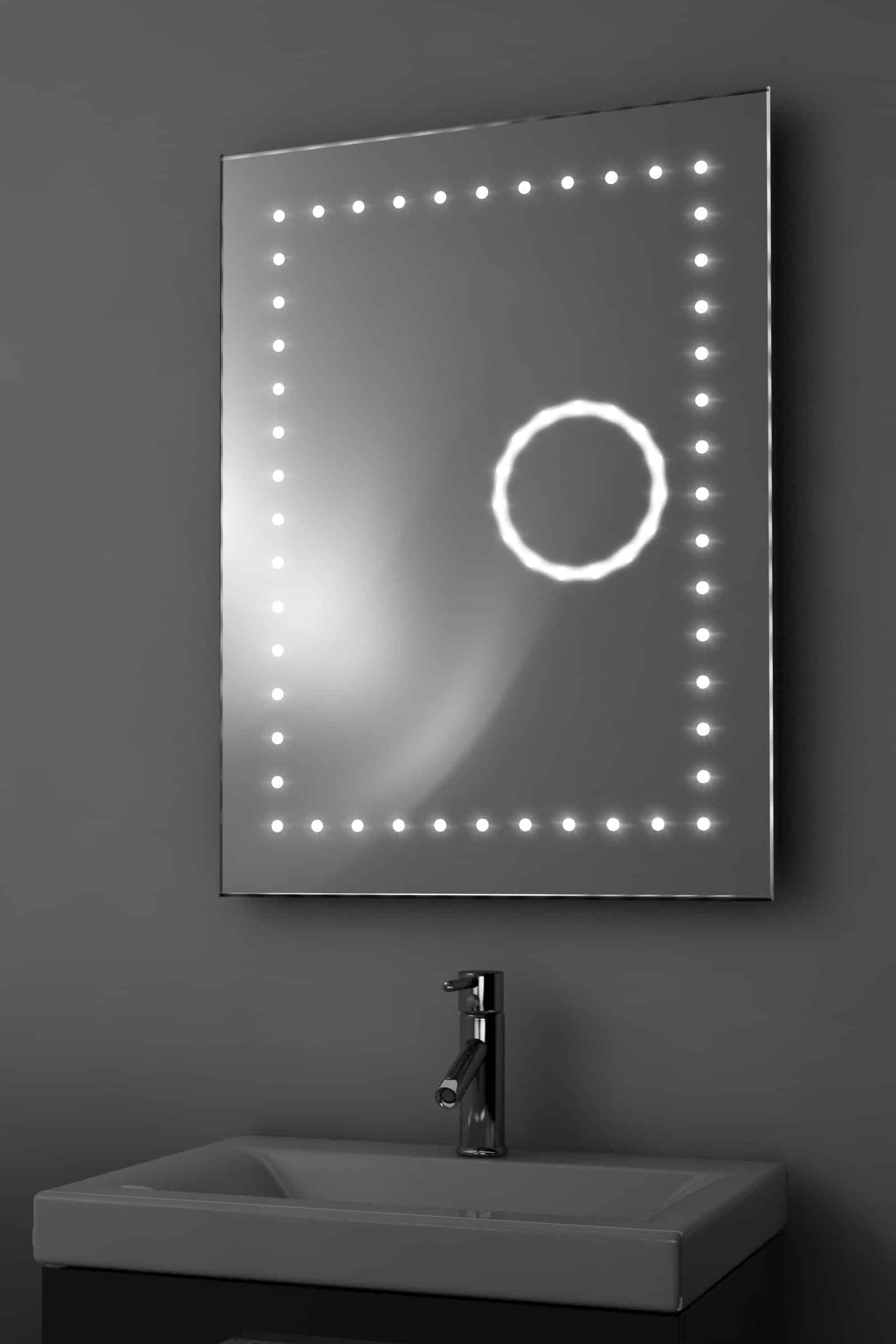 LED spiegel met vergrotingsspiegel en verwarming 60x80 cm ...