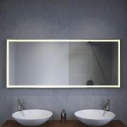 design badkamer led spiegel met verwarming en sensor 140x60 cm designspiegels. Black Bedroom Furniture Sets. Home Design Ideas