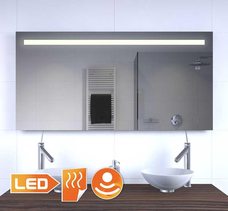 Betere Badkamer LED spiegel met stopcontact verwarming en sensordimmer HZ-88