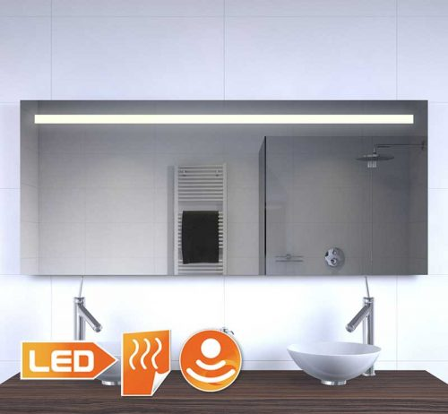 LED badkamer spiegel met verwarming en sensor