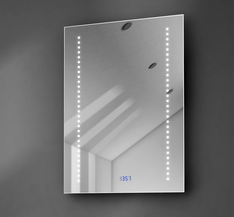 Badkamerspiegel met klok