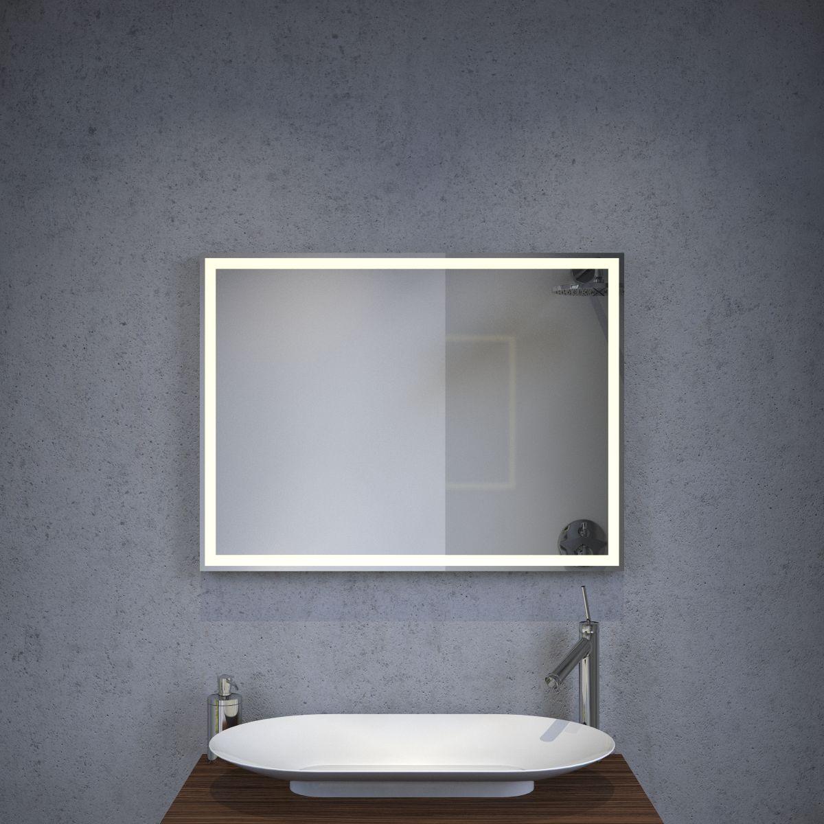 Interessant Design badkamer LED spiegel met verwarming en sensor 80x60 cm  TG42