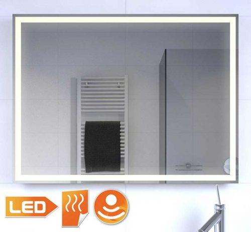 Badlkamerspiegel met rondom warm witte LED verlichting