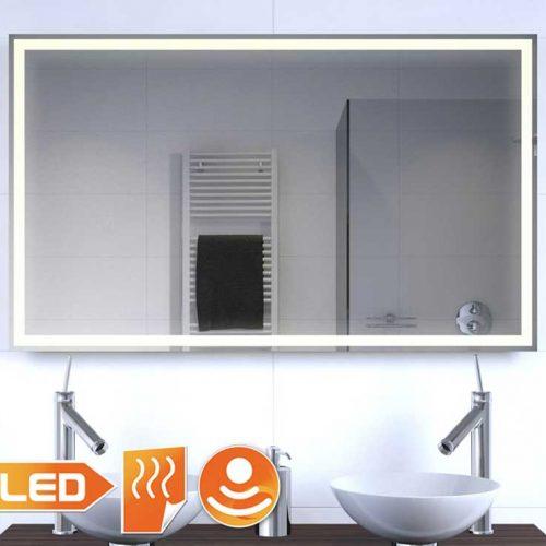 Badkamer led spiegel met verwarming en sensor 100x60 cm Badkamerspiegel met led verlichting en verwarming