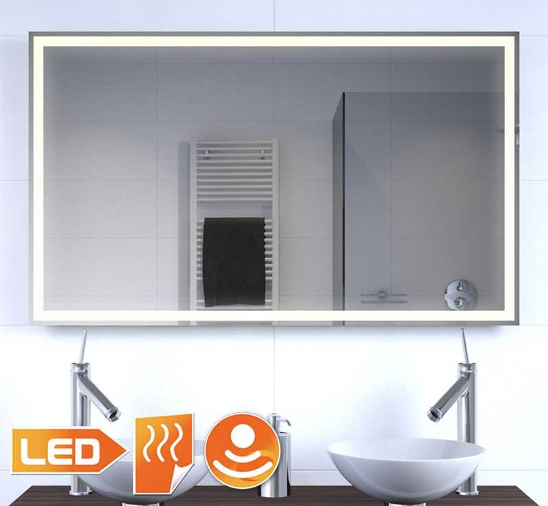 Design badkamerspiegel met verlichting en verwarming