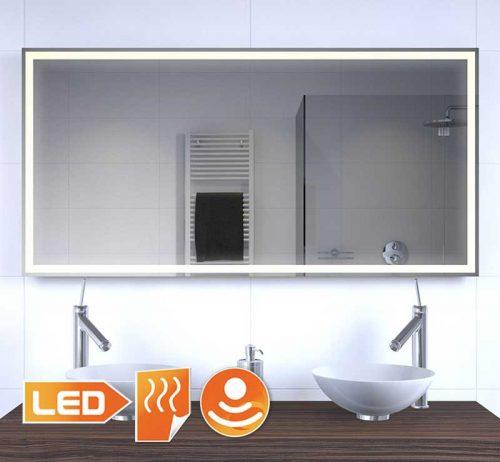 Badkamer LED spiegel met verwarming en sensor 120x60 cm