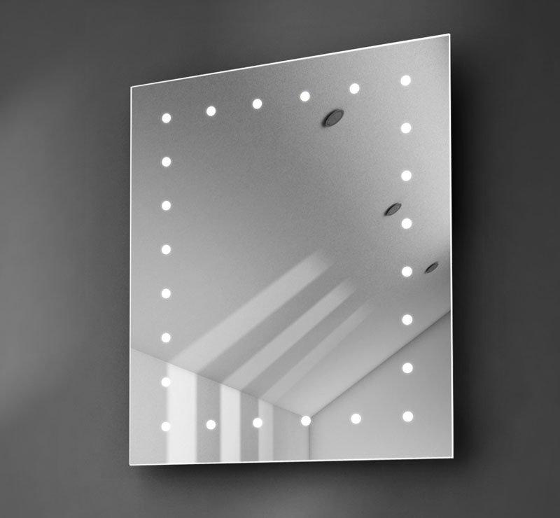 Design spiegeltje met rondom verlichting