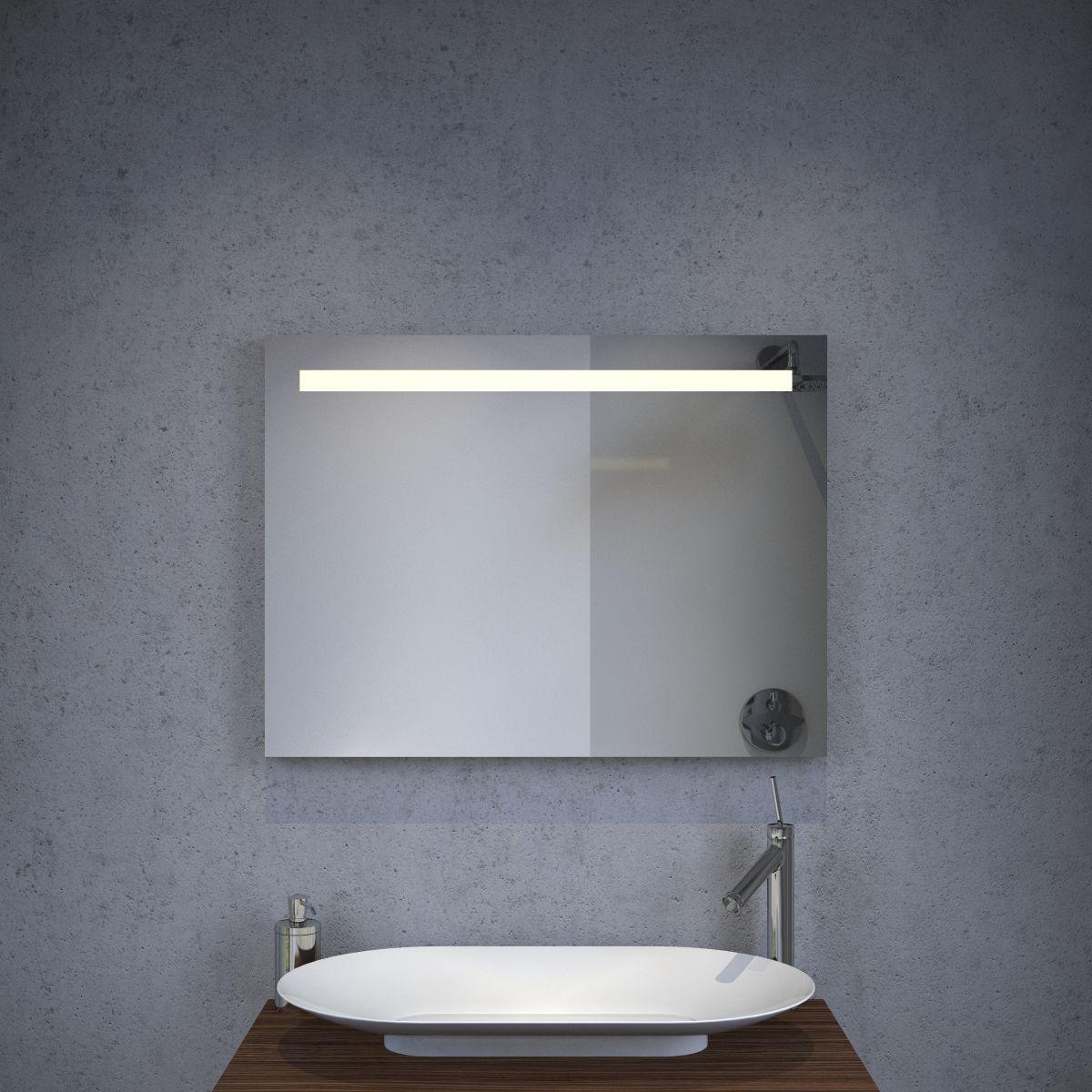 Badkamer led spiegel met verwarming en sensor 80x60 cm for Spiegel 80x60