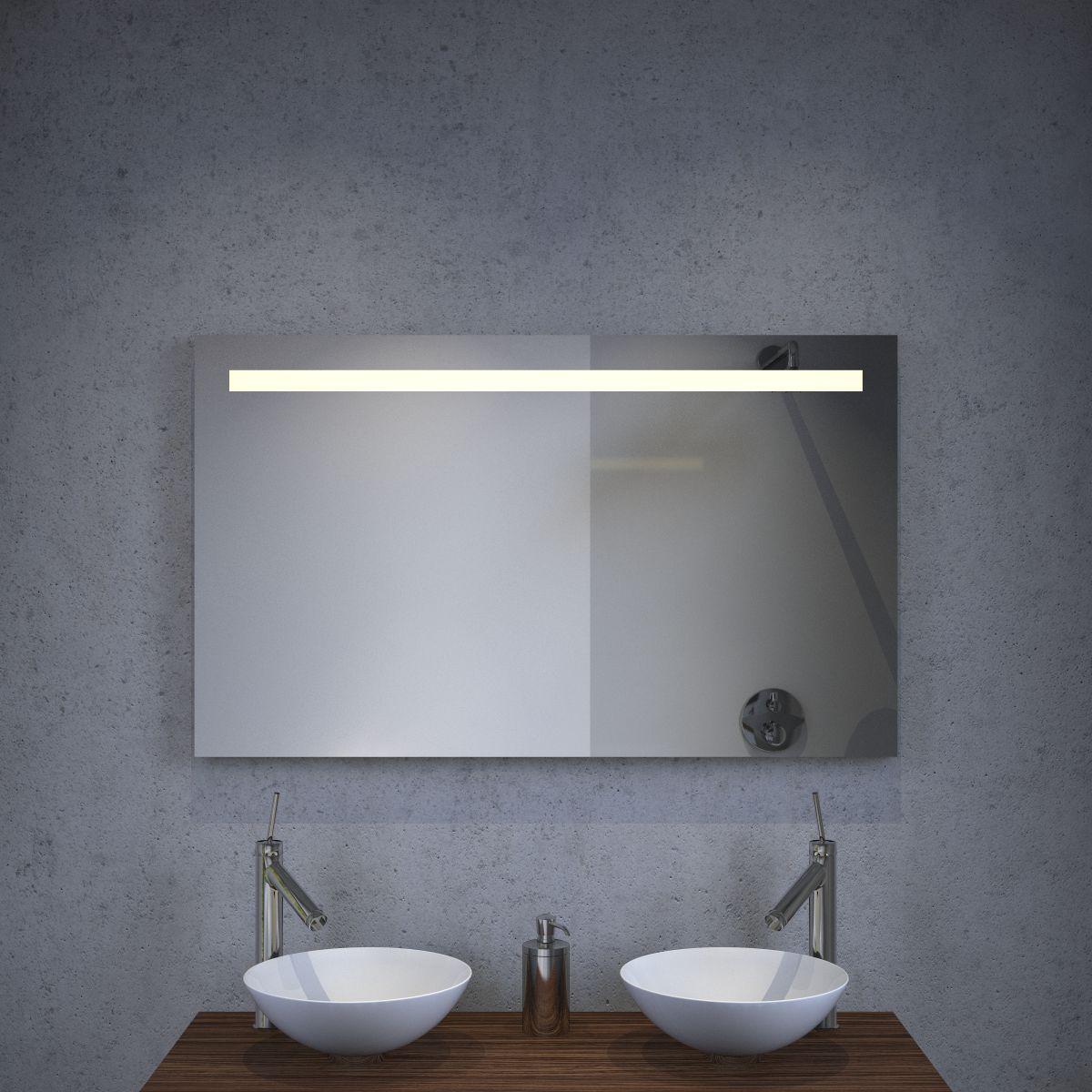 Badkamer spiegel met dimbare verlichting en spiegel verwarming ...