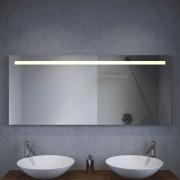 deze spiegel is voorzien van warm witte LED verlichting
