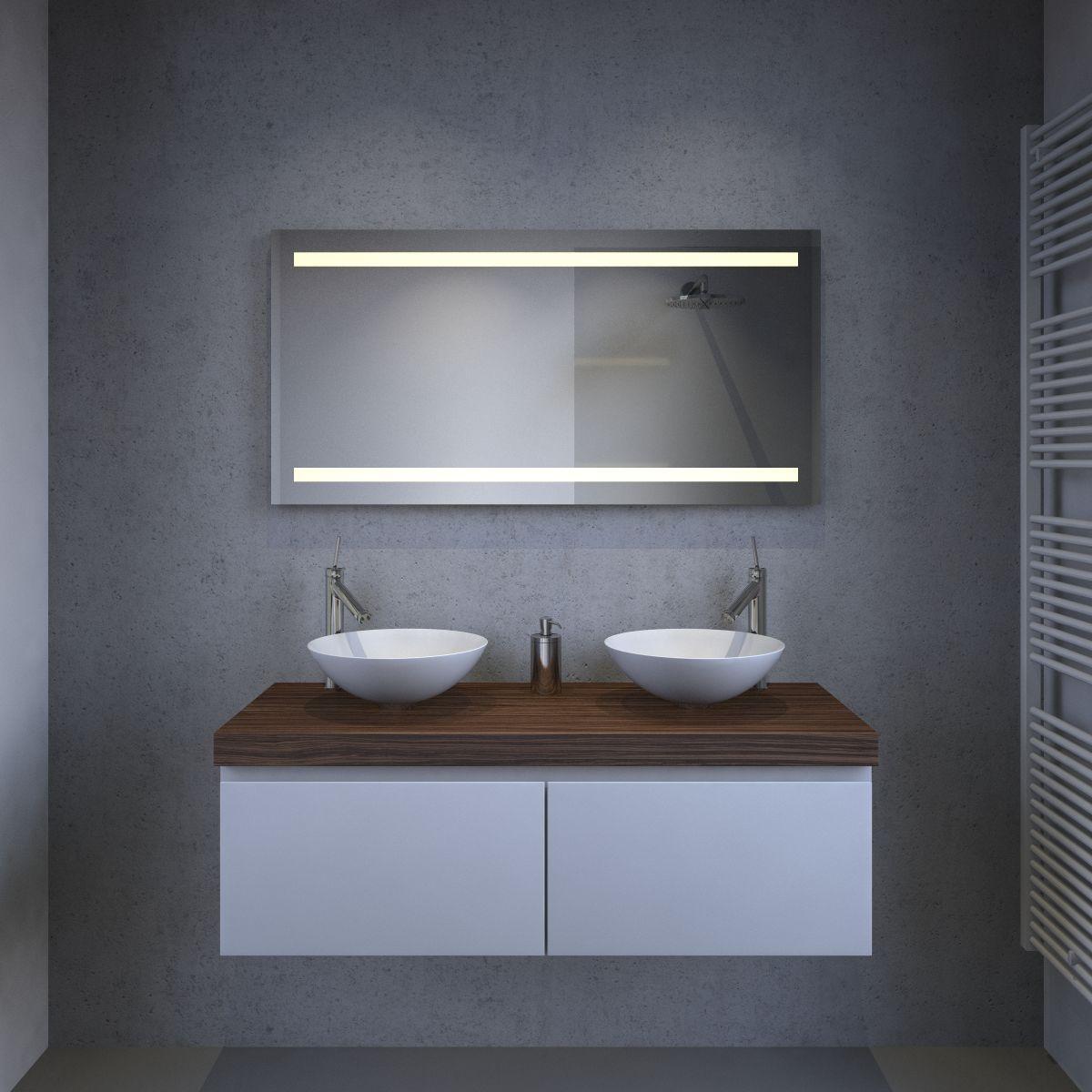 Afmeting Badkamer Spiegel ~  Spiegels met verlichting  Spiegels met led verlichting  Badkamer