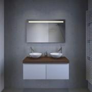 Design badkamerspiegel met handige spiegelverwarming