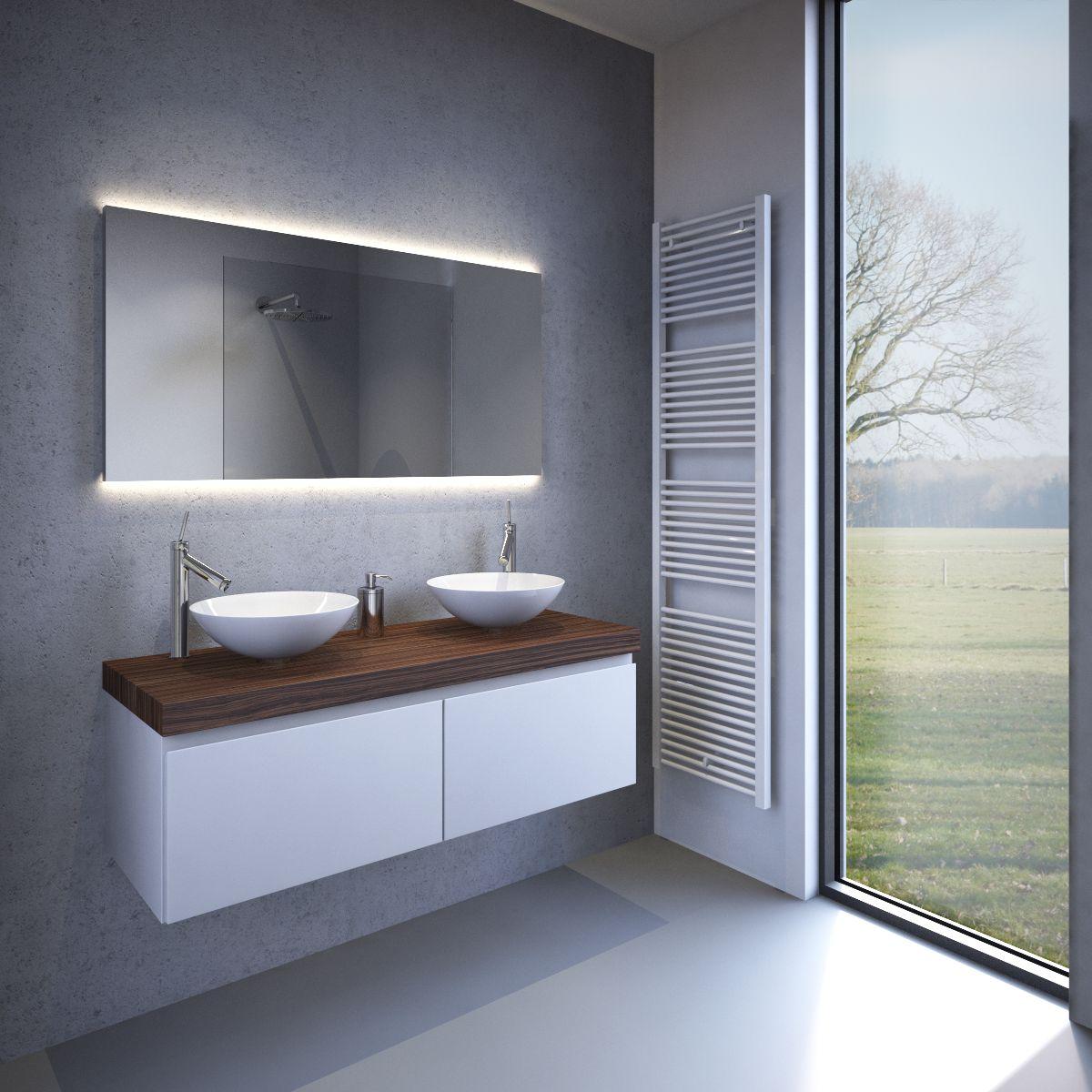 verlichting / Spiegels met led verlichting / Design badkamer spiegel ...