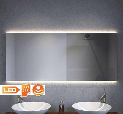Design badkamer spiegel met indirect strijklicht en verwarming 140x60 cm