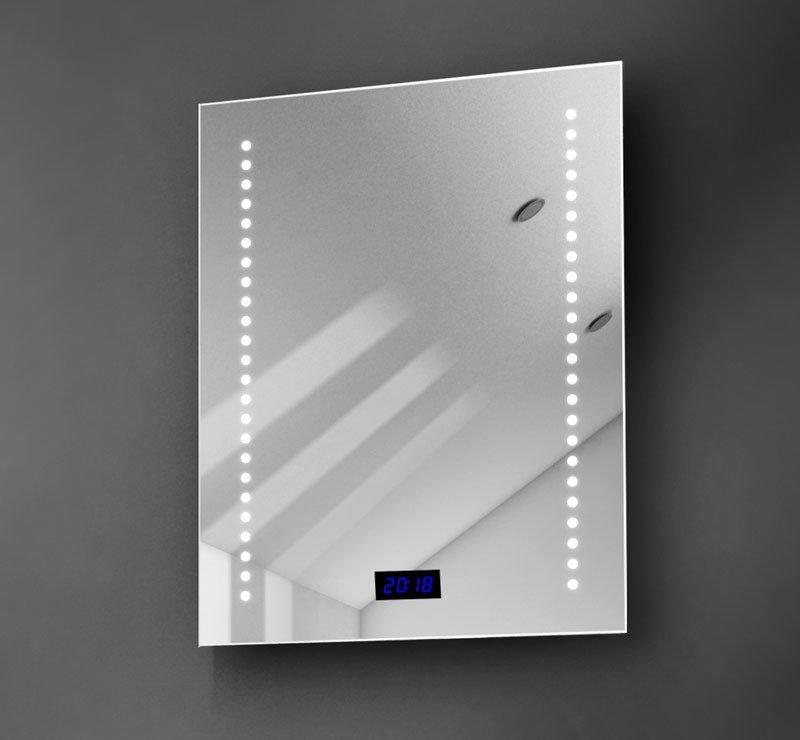 LED spiegel met klokje
