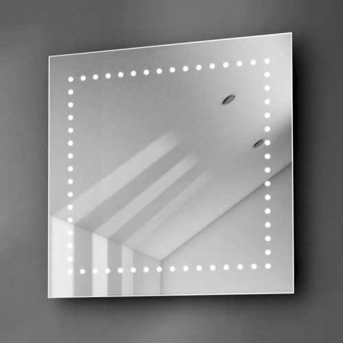 LED spiegel vierkant 60 cm met ingebouw Bluetooth muzieksysteem