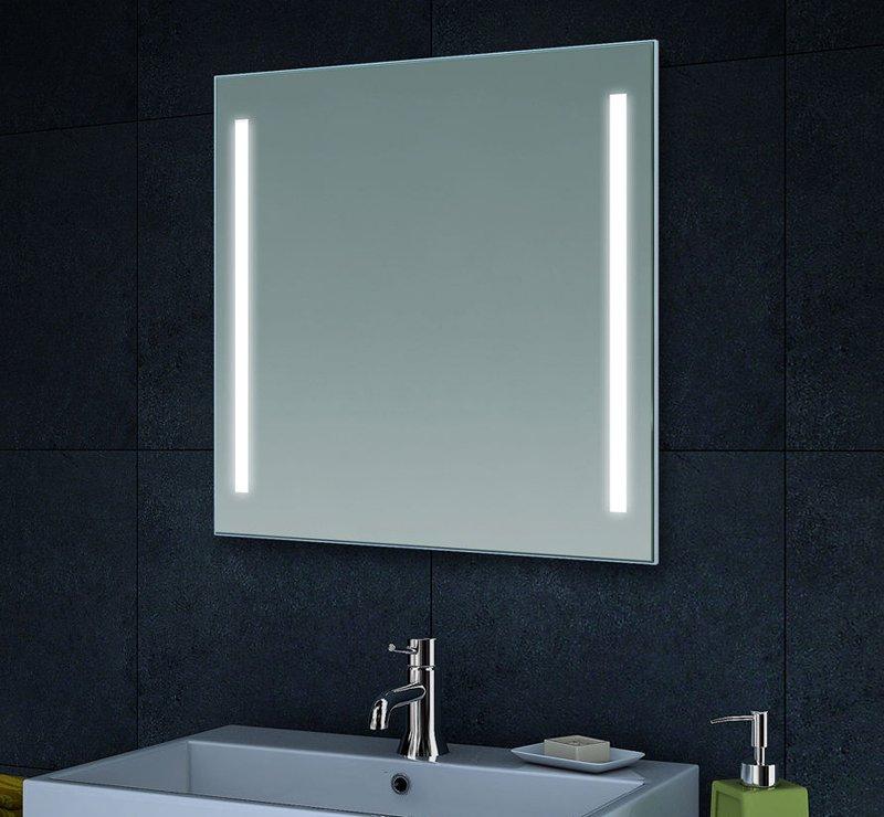 Lichtspiegel met de verlichting links en rechts (de afzonderlijke LEDs zijn bij dit model zichtbaar)