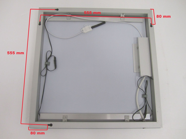 Badkamer spiegel met 2 kleuren verlichting 60x60 cm - Designspiegels
