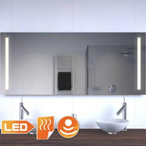 Badkamer led spiegel met verwarming en sensor 140x60 cm Badkamerspiegel met led verlichting en verwarming