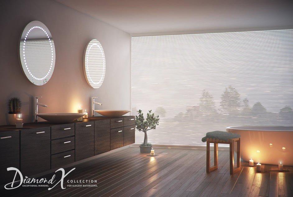 Ronde Spiegel Badkamer : Ronde badkamerspiegel met verlichting en verwarming cm