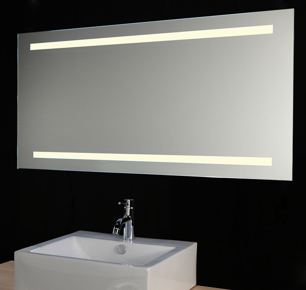 verwarmde badkamer led spiegel met sensor 80x60 cm designspiegels. Black Bedroom Furniture Sets. Home Design Ideas