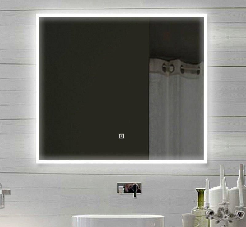 Spiegel met acryl stroken rondom