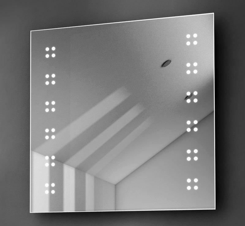 Vierkante spiegel 60 cm met led verlichting