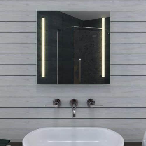 Voordelige badkamerspiegel met verlichting, waarbij de kleur instelbaar is