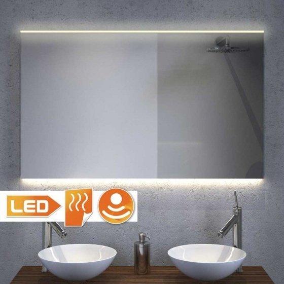 100 cm brede badkamerspiegel met handige spiegelverwarming en praktische verlichting