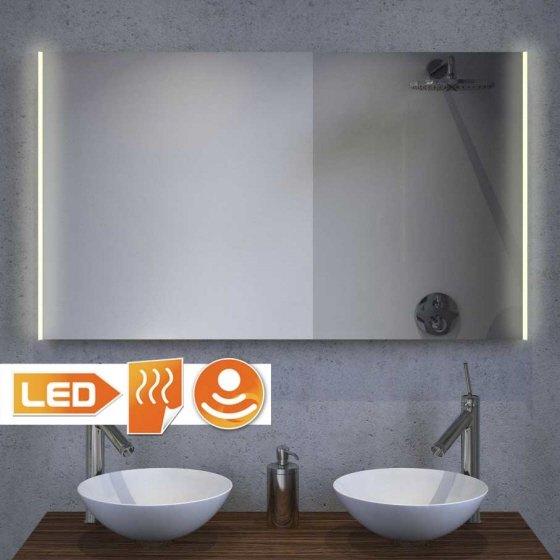 Nieuw model LED spiegel met handige spiegelverwarming en dimmer 100x60 cm