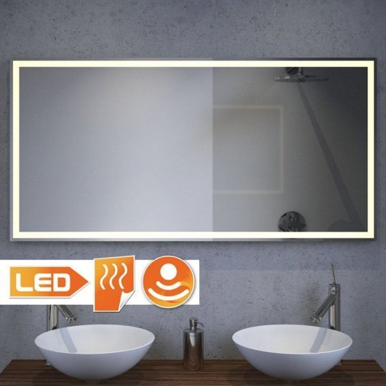 Verwarmde spiegels gratis levering for Spiegel badkamer verlichting