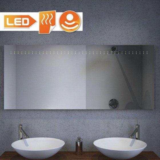 Led spiegel met verwarming en sensor 140x60 cm