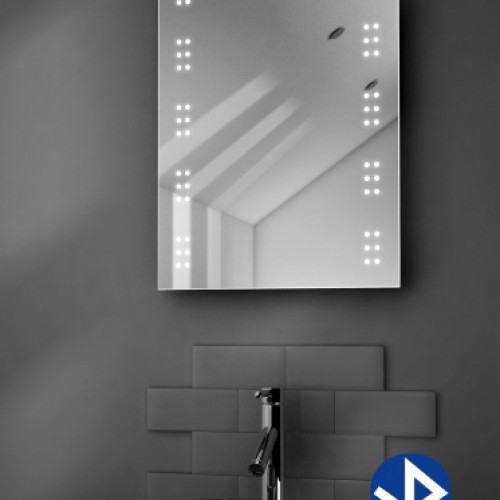 Badkamer spiegel met muziek systeem en 2 speakers 50x70 cm ...
