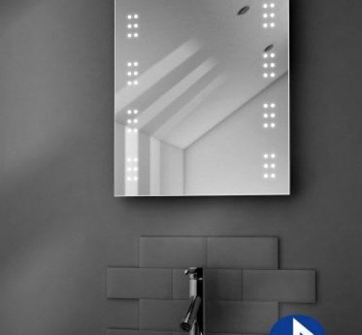 Badkamer spiegel met muziek systeem en 2 speakers 50x70 cm