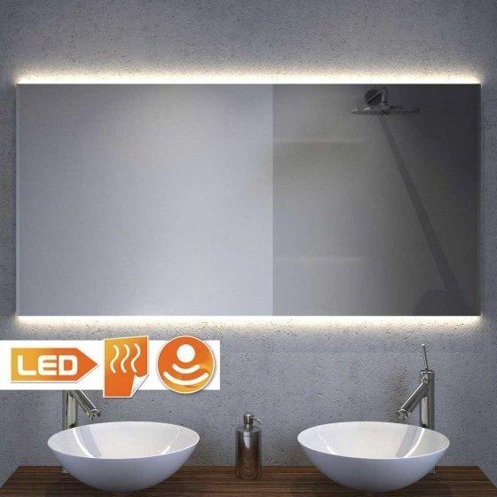 Design badkamer spiegel met strijklicht en spiegelverwarming 120x60 cm