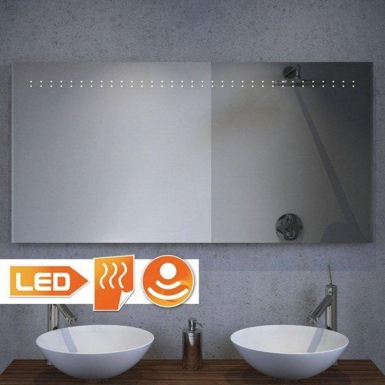 Fraaie LED spiegel met verwarming en sensor dimmer 120x60 cm