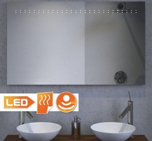 Verwarmde badkamer LED spiegel met sensor - 100x60 cm